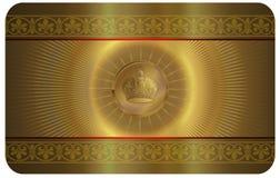 Goldvisitenkarte Lizenzfreies Stockfoto