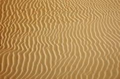 Goldwüste Sandbeschaffenheit Lizenzfreie Stockfotos