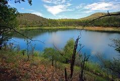 Goldwatermeer dichtbij Prescott, AZ, Yavapai-Provincie, Arizona Royalty-vrije Stock Afbeeldingen