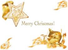 Goldweihnachten Stockfotos