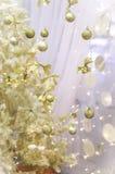 Goldweihnachten Lizenzfreie Stockbilder