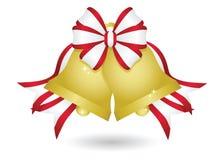 Goldweihnachten Bell Stockbild