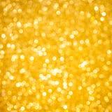 Goldweihnachtenbokeh Lizenzfreies Stockbild