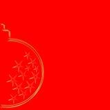 Goldweihnachtsbirne Lizenzfreie Stockfotos