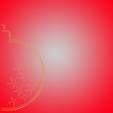 Goldweihnachtsbirne Lizenzfreies Stockbild