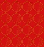 Goldweihnachtsbirne - Illustration Stockfoto