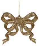 Goldweihnachtsbogendekoration Lizenzfreie Stockfotografie