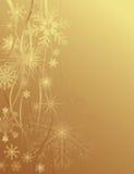 Goldweihnachtshintergrund Stockbilder