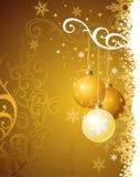Goldweihnachtshintergrund/vektorabbildung lizenzfreie abbildung