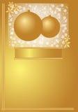 Goldweihnachtskarte Stockfotos