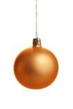 Goldweihnachtskugel Lizenzfreie Stockfotografie