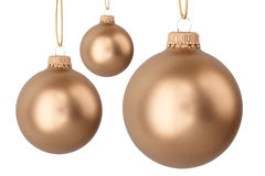 Goldweihnachtskugeln Lizenzfreie Stockbilder