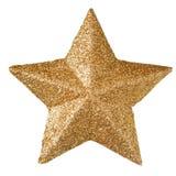 Goldweihnachtsstern Stockbild