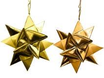 Goldweihnachtssterne. Stockfoto