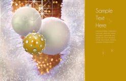 Goldweihnachtsverzierung-Auslegung Lizenzfreie Stockbilder