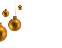 Goldweihnachtsverzierungen Stockbild