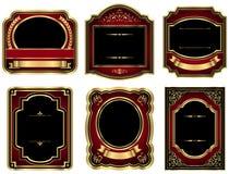 Goldweinlese-Aufkleber Stockbilder