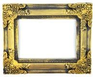 Goldweinleserahmen Stockfotografie
