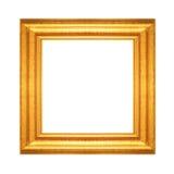 Goldweinleserahmen lokalisiert auf Weiß Stockbilder