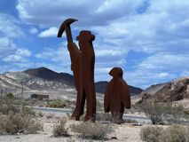 Goldwell na wolnym powietrzu muzeum, Śmiertelna dolina zdjęcia stock