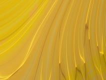 Goldwellenförmige Kurven stock abbildung