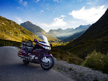 Traveling on Goldwing royalty free stock photos