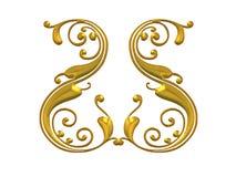 Goldwirbelnde Flourish-Auslegung Lizenzfreie Stockbilder