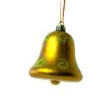 Goldy christmas bell Stock Photos