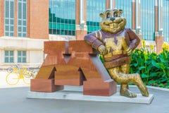 Goldy Gopher Mascot at the University of Minnesota. MINNEAPOLIS, MN/USA - SEPTEMBER 10, 2017: Goldy Gopher mascot on the campus of the University of Minnesota Royalty Free Stock Photo