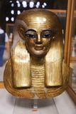 Goldy mask at Egyptian museum. Cairo, Egypt Jan. 2018 Ancient gold and silver antiquities - Egyptian museum Royalty Free Stock Images