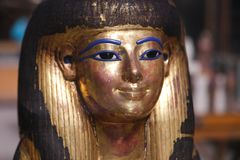 Goldy Mask at Egyptian museum. Cairo, Egypt Jan. 2018 Ancient gold and silver antiquities - Egyptian museum Royalty Free Stock Image