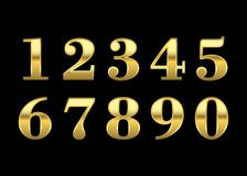 Goldzahlen lokalisiert lizenzfreie abbildung