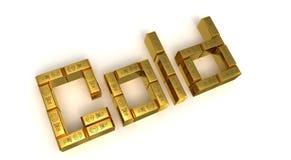 Goldzeichen Lizenzfreie Stockfotos