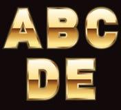 Goldzeichen - Set 1 stock abbildung