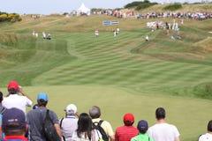 Gole在高尔夫球法国公开赛的路线孔12 2015年 免版税图库摄影