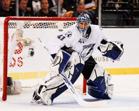 Goleiros de Mike Smith Tampa Bay Lightning Imagem de Stock