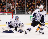 Goleiros de Mike Smith Tampa Bay Lightning Foto de Stock
