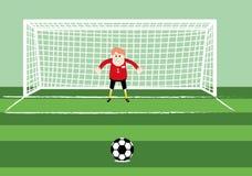 Goleiros do futebol a porta ilustração stock