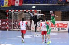 Goleiros do handball Imagem de Stock