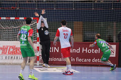 Goleiros do handball Fotografia de Stock Royalty Free