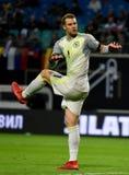 Goleiros Manuel Neuer da equipe nacional de Baviera Munchen e de Alemanha imagem de stock