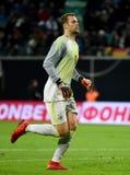 Goleiros Manuel Neuer da equipe nacional de Bayern Munich e de Alemanha fotografia de stock
