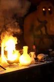 Golem dans le laboratoire d'un magicien Photos stock