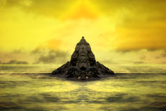 Golem di pietra di fantasia Fotografie Stock