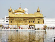 Golden Temple. Is India and famous place of worship, among the Sikh community Stock Photography