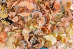 Golenia od barwionych ołówków - piękny tło i abstrakcja obrazy stock