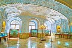 Golestan宫殿,德黑兰特别博物馆内部  库存图片