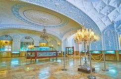 Golestan宫殿,德黑兰礼物博物馆内部  库存照片