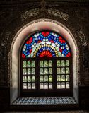Golestan Palace colorfull window Royalty Free Stock Photography