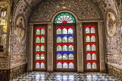 Golestan Palace colorfull windows Royalty Free Stock Image
